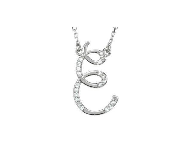 CleverEve's Diamond Necklace Sterling Silver E 1/10 Ct Tw