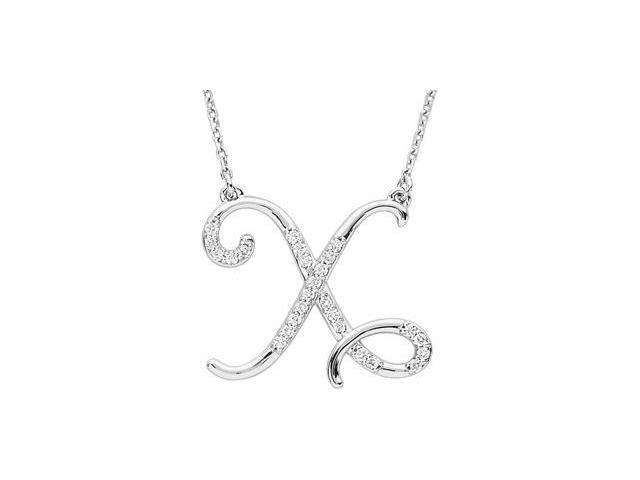 CleverEve's Diamond Necklace Sterling Silver X 1/8 Ct Tw