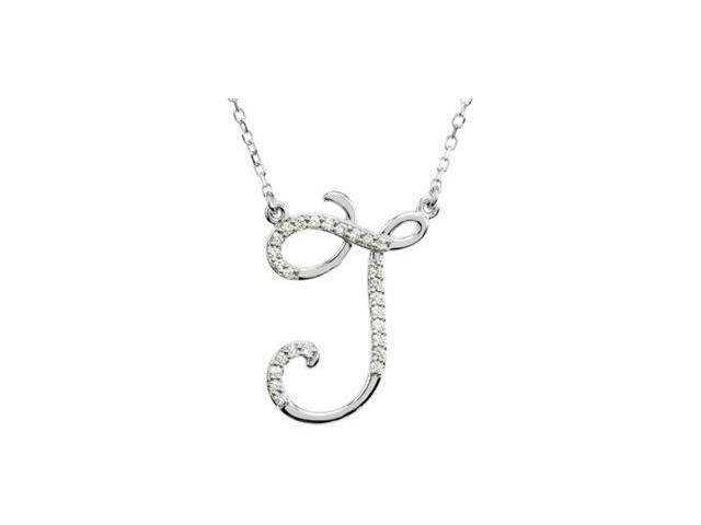 CleverEve's Diamond Necklace Sterling Silver J 1/8 Ct Tw