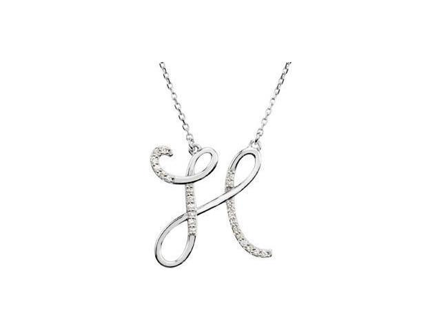 CleverEve's Diamond Necklace Sterling Silver H 1/8 Ct Tw
