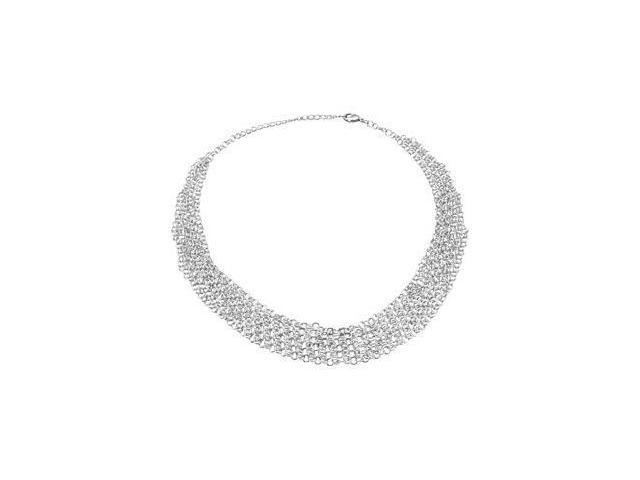 CleverEve's Fashion Necklace Sterling Silver 17 Inch