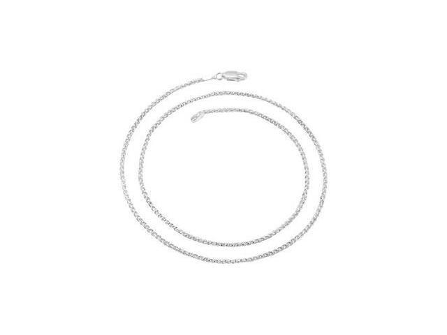 CleverEve's Wheat Chain Sterling Silver 18.00 Inches