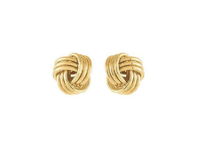 CleverEve Designer Series One Pair 14K Yellow Gold 2.95 grams Clad Sterling Silver Knot Earrings