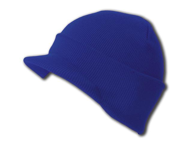 Cuff Knit Beanie Visor Blank Cap