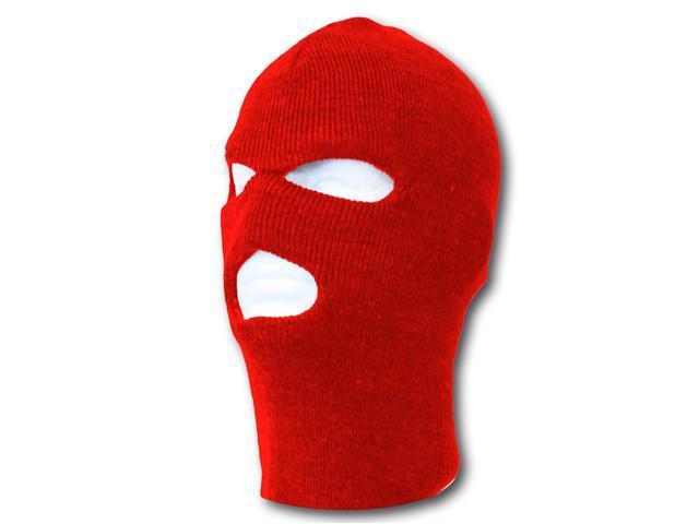 3 Hole Winter Ski Mask- Red