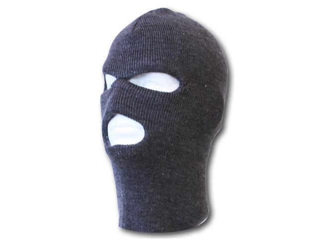 3 Hole Winter Ski Mask- Charcoal