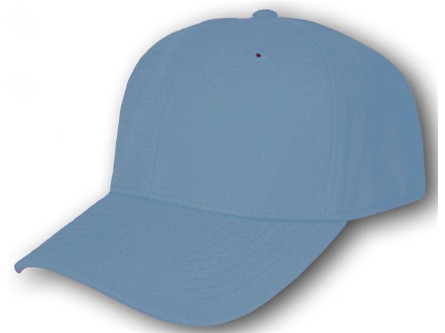 Blank Fitted Curved Cap Hat - Sky Blue