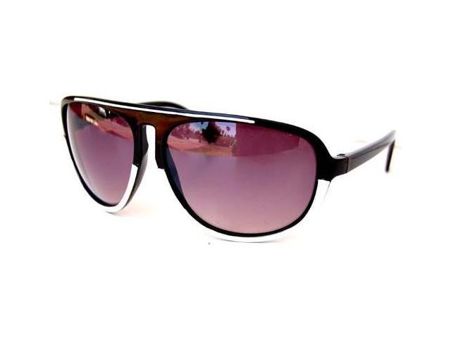 Plastic Thin Legs Aviator Style Sunglasses Black