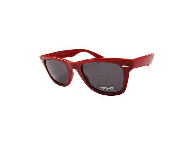 Blues Brothers Wayfarer Sun Glasses - Red