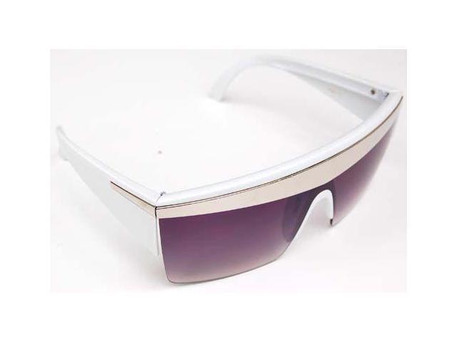 Unique Lady Gaga Just Dance 80's Inspired Sunglasses- White