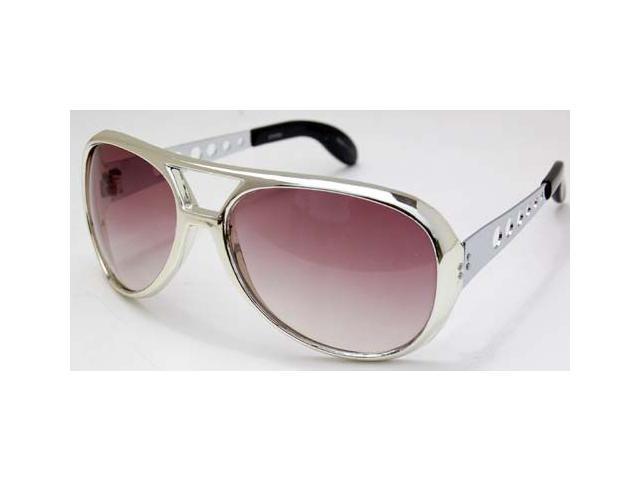 Elvis Pressley Burning Love Sunglasses Silver