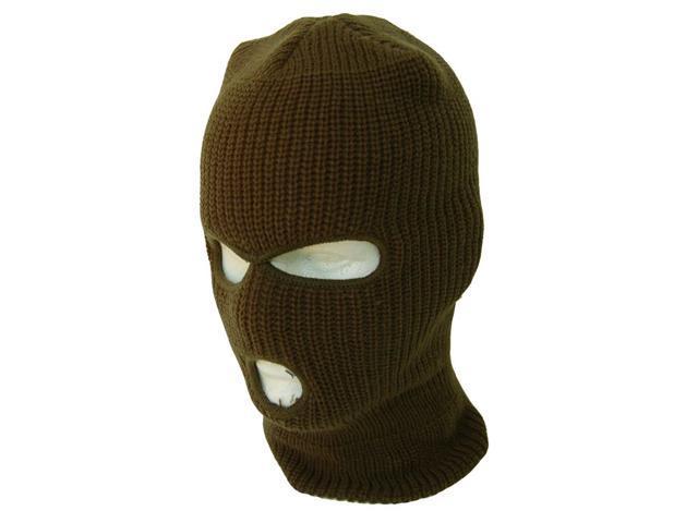 3 Hole Winter Ski Mask- Olive