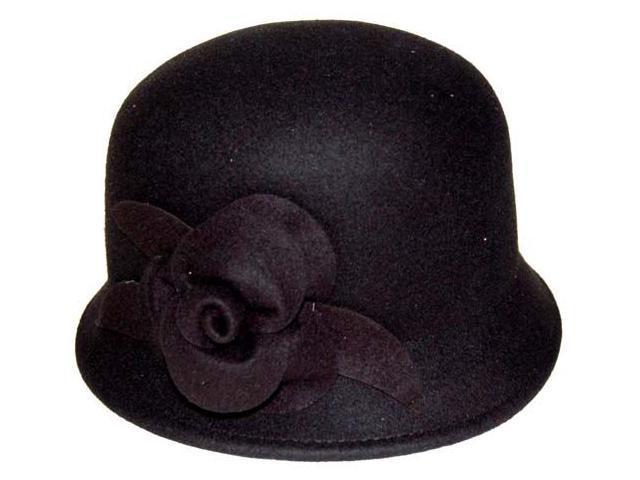 Vintage Wool Cloche Flower Hat