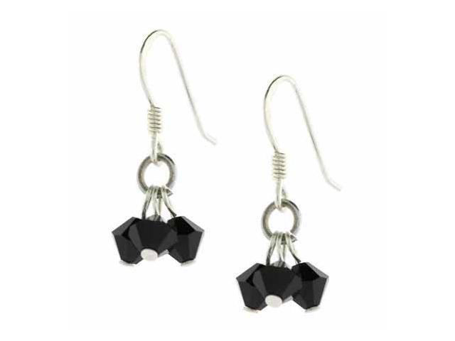 Black Genuine Swarovski Crystal Clusters Earrings
