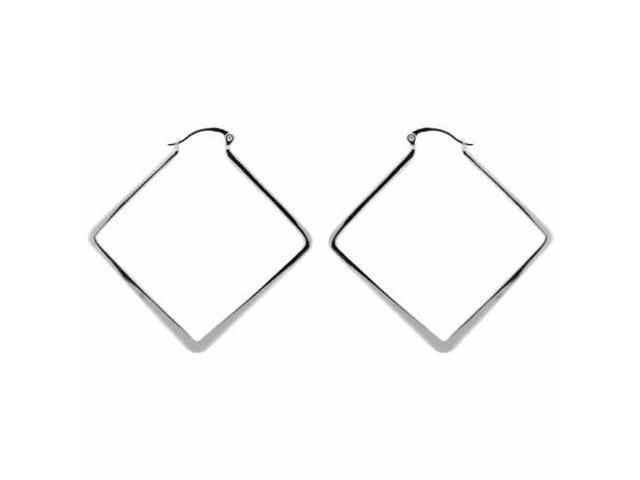 Sterling Silver Funky Hoop Earrings