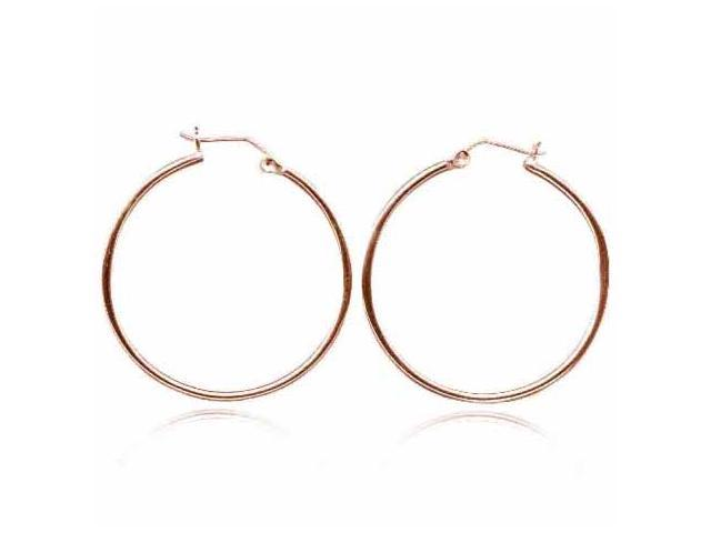 18K Rose Gold over Sterling Silver 40mm Hoop Earrings