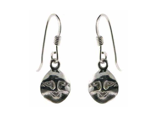 Sterling Silver Man In The Moon Earrings