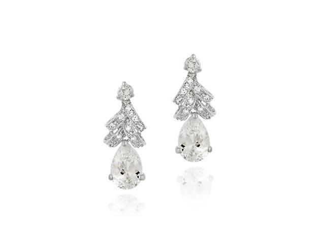 Sterling Silver Simulated Diamond CZ Classic Earrings