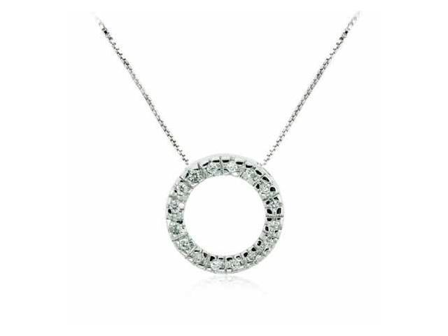 Celebrity Sterling Silver Pave Simulated Diamond CZ Eternity Circle of Friendshi