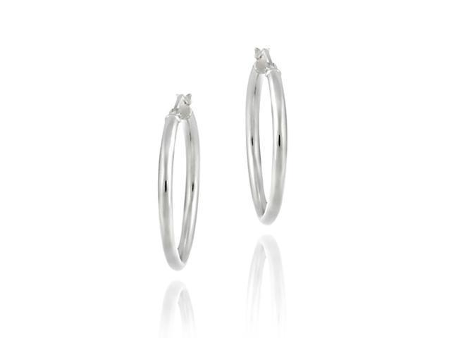 25 mm Sterling Silver Hoop earrings
