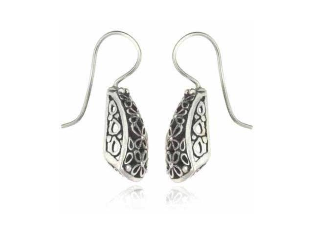 Silver Filigree Antique Style Flower Filigree Earrings