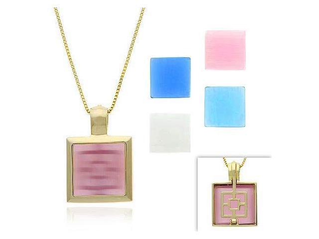 Vermeil (24k Gold over Sterling Silver) Pink, Light & Dark Blue, White, & Lavend