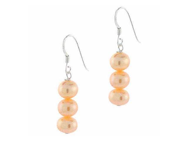Genuine Freshwater Peach Pearl Earrings