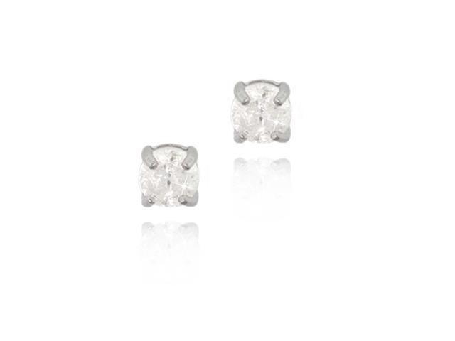 Sterling Silver 1/4 Ct. TDW Diamond Stud Earrings