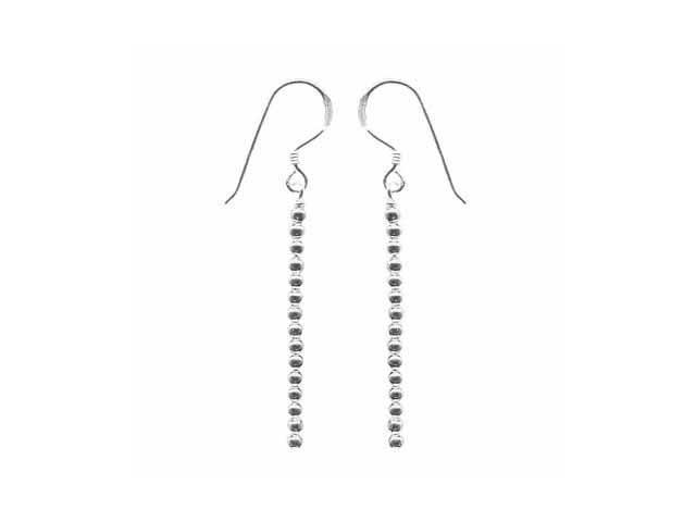Unique Dangling Sterling Silver Bead Earrings