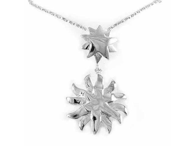 Sterling Silver Sun and Star Pendant
