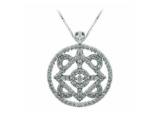 Aristocratic Sterling Silver Simulated Diamond cz Pendant