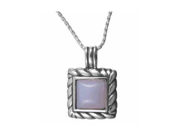 Sterling Silver Square Lace Pendant