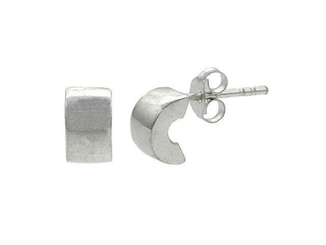 Sterling Silver Small Half Hoop Mini Kid Stud Earrings