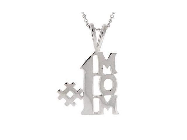 Sterling Silver 'Number One Mom' Pendant
