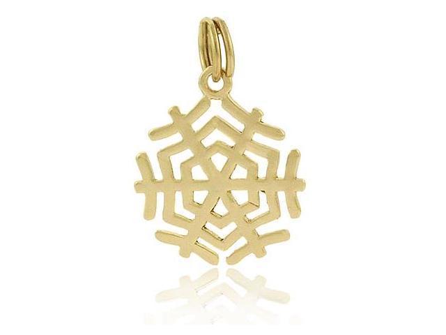 Winter Vermeil (24k Gold over Sterling Silver) Filigree SnowFlake Charm/Pendant