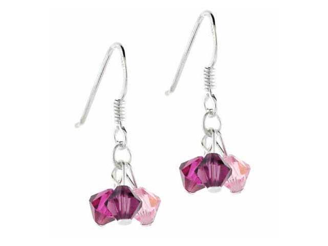 Multi Color Dark Pink, Light Pink, and Purple Genuine Swarovski Crystal Cluster