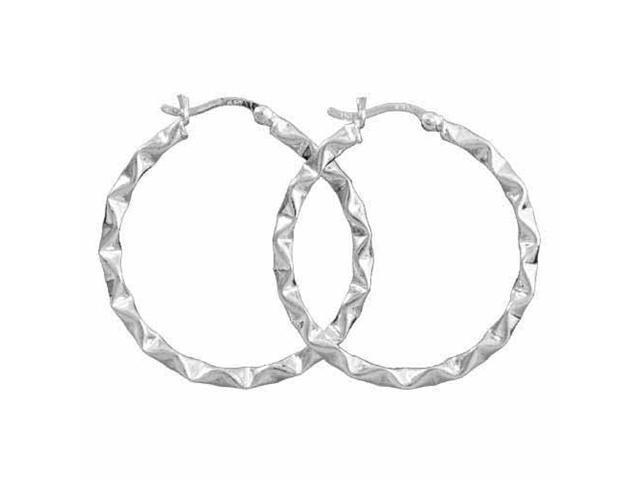 Geometric Sterling Silver Hoop Earrings