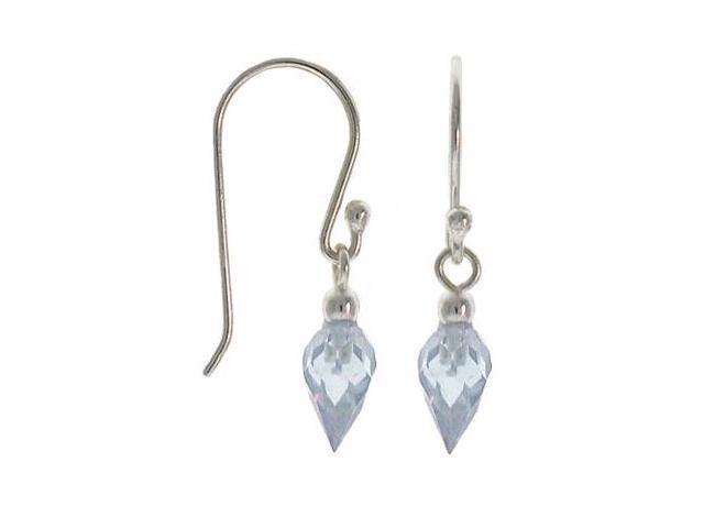 Sterling Silver .925 Lavender cubic zirconia stone dangle sparkle cz Earrings