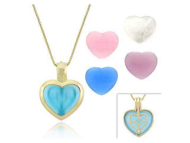 Vermeil (24k Gold over Sterling Silver) Pink, Light & Dark Blue, White, & Lavend