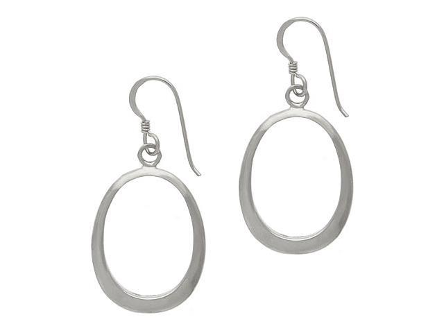 Sterling Silver .925 Oval Dangle Earrings