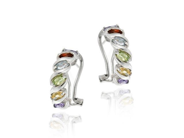 Sterling Silver Multi Color Gemstone
