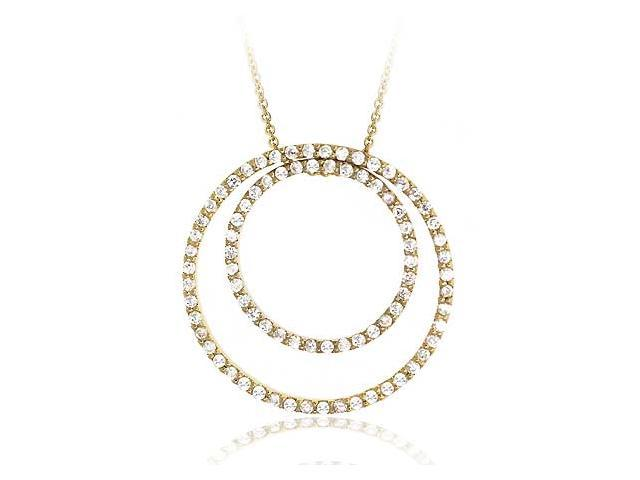 Vermeil (24k Gold over Sterling Silver) cz Diamond cubic zirconia Eternity Penda