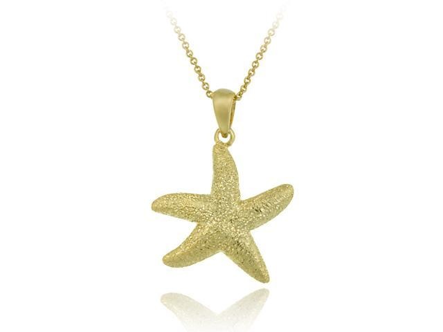 18K Gold over Sterling Silver Starfish Pendant