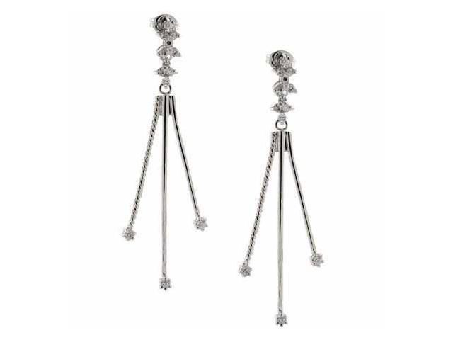 Sterling Silver Simulated Diamond cz Earrings