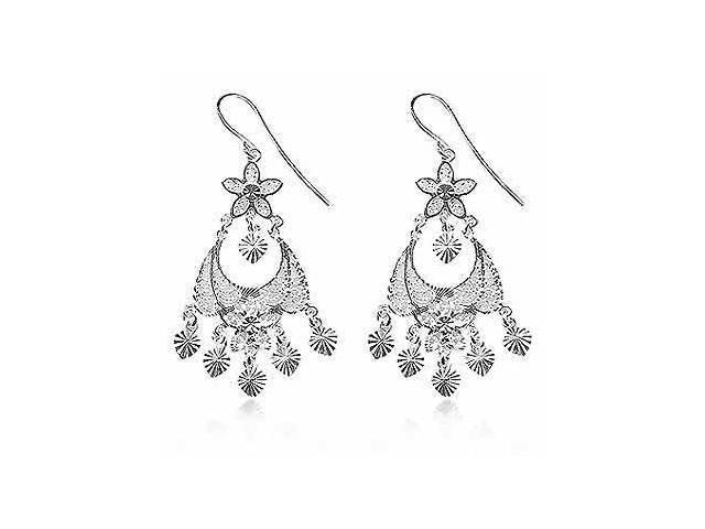 Sterling Silver Filigree Chandelier Earrings