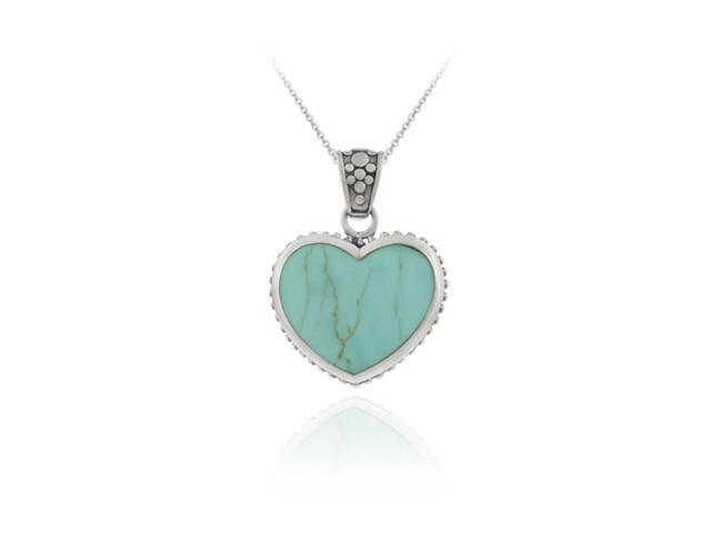Heart PENDANT Turquiose & Mother of Pearl NR