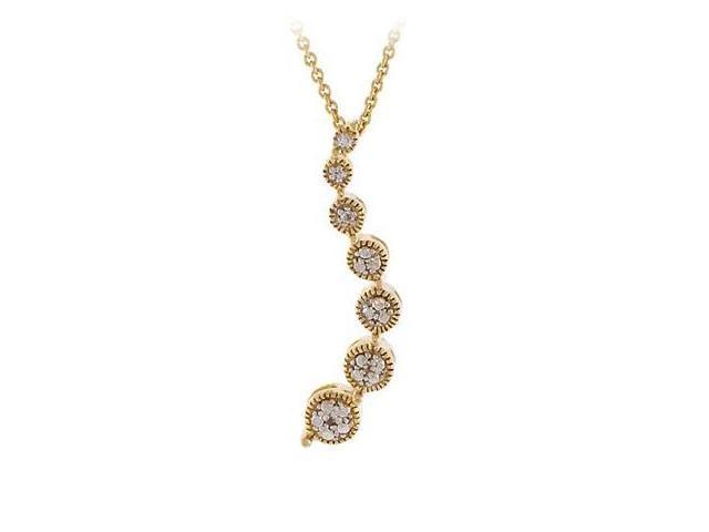 18k Gold Over Silver Diamond Accented Journey Pendant