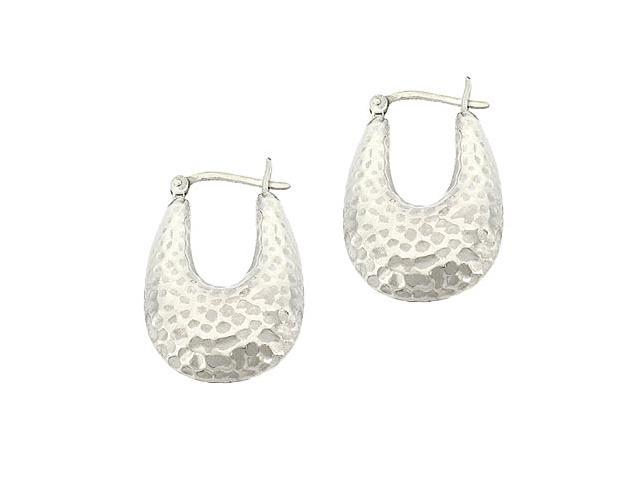 Sterling Silver .925 hammered design Earrings