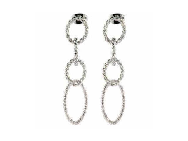 Vintage inspired Sterling Silver Four Circle Earrings