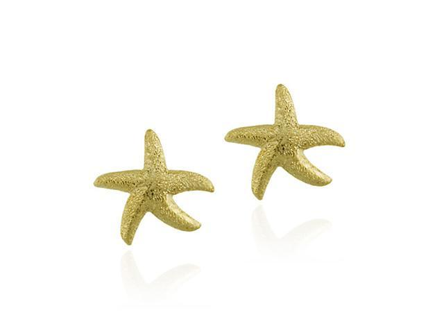 18K Gold over Sterling Silver Starfish Earrings